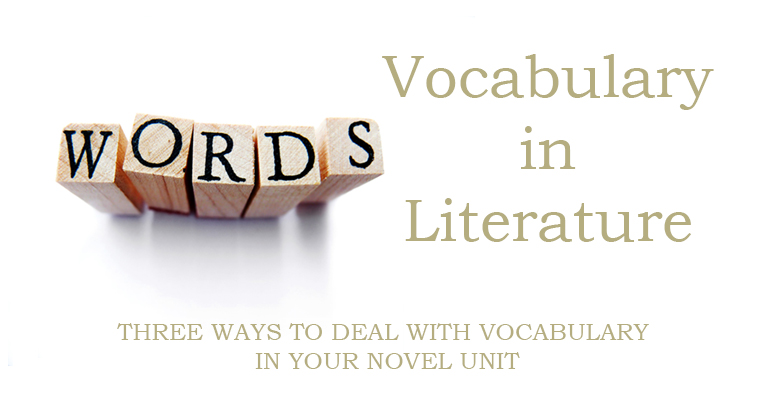 3 Ways to Deal With Vocabulary in Your Novel Unit